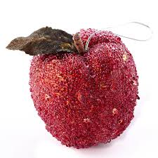 beaded apple ornament ornaments and
