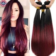 best human hair extensions cheap unifos ombre burgundy human hair