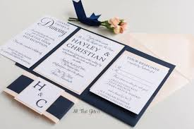 hayley modern classic wedding invitation suite all that