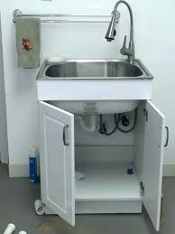 stainless steel laundry sink stainless laundry sink home depot utility sink faucet glacier bay