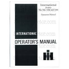 rep120 operators manual ih 766 966