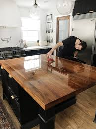 kitchen cabinet colors with butcher block countertops how we refinished our butcher block countertop chris
