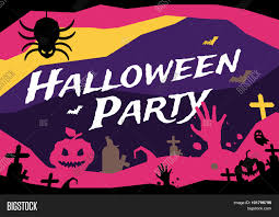 halloween night background orange halloween party background invitation stock photo image