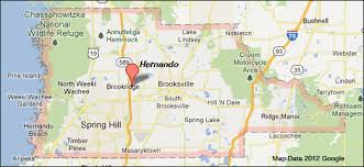 Map Of North Florida Counties Hernando County Florida Map