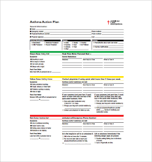 asthma action plan template u2013 13 free sample example format