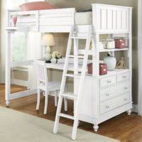 Full Size Bunk Bed With Desk Underneath Furniture White Wooden Bed With Stairs And Storage Drawer Plus
