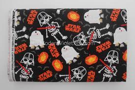 Glow In The Dark Halloween Fabric by Last Piece 33 Inches Star Wars Halloween Fabric Glow In The Dark