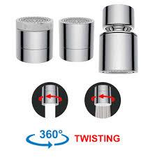 hibbent dual function 2 flow kitchen sink aerator 360 degree