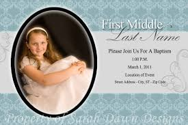 Sample Baptismal Invitation Cards Lds Baptism Invitations Template Best Template Collection