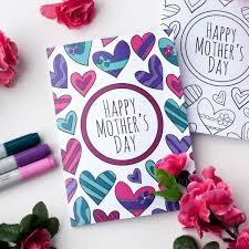 free mother u0027s day coloring card sarah renae clark coloring