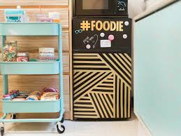 fresh dorm room decorating ideas with cute navy blue food strorage