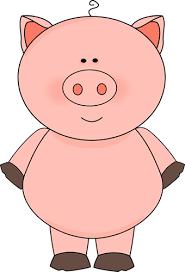 free pig clipart www cutecolors clip art