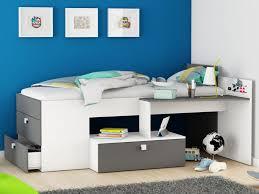 lit enfant bureau lit seraphin bureau et rangements 90 x 200cm option matelas