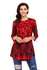 flowy blouses black floral print flowy blouse mb250472 3 modeshe com
