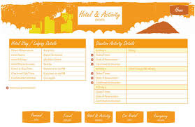 travel itinerary template expin memberpro co