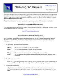 marketing plan samples