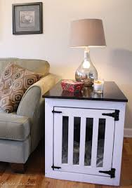 Diy End Table Dog Crate by Ana White Dog Kennel Coffee Table Diy Projects