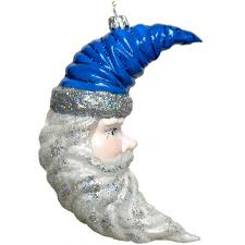 blue moon santa ornament dapolonia