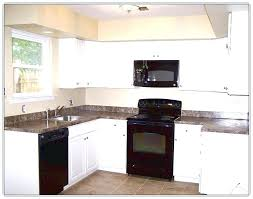Pictures Of Kitchens With White Cabinets And Black Countertops Kitchens With Black Appliances Salmaun Me