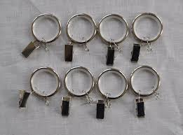 1 inch metal curtain drapery rings with clips eyelets and nylon