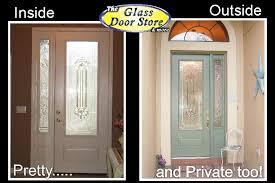 Fiberglass Exterior Doors With Glass Single Front Door With Glass Insert Partial Size The Glass Door