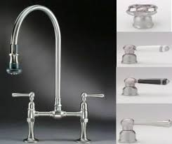 bridge faucets for kitchen polished nickel port bridge kitchen faucet gt31 tdd with