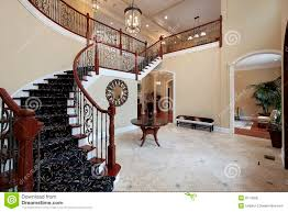 foyer with spiral staircase stock photography image 14747262