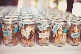 jar ideas for weddings candy filled jar wedding favors