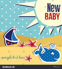 baby shower card design stock vector 195022223 shutterstock