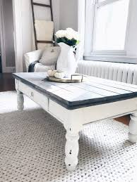 square gray wood coffee table coffee table farmhouse coffee table makeover rustic gray wood plants