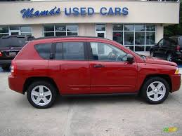 red jeep compass interior 2008 inferno red crystal pearl jeep compass sport 13752645 photo