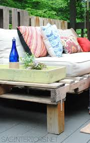 How To Make Pallet Patio Furniture by Diy Outdoor Pallet Sofa Jenna Burger