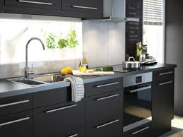 Ikea Black Kitchen Cabinets  A Traditional Kitchen With - Ikea black kitchen cabinets