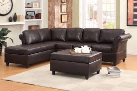 Leather Chaise Sofa Wonderful Collection In Leather Sofa With Chaise Homelegance