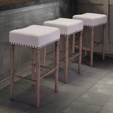 Counter Stool Backless American Woodcrafters Stockton Backless Counter Stool Slate Gray