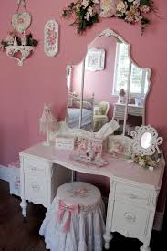 Girls Vanity Table And Stool Love This Dressing Table Reminds Me Of My Dolly Varden When I
