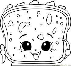 Lana Banana Bread Shopkins Coloring Page Free Shopkins Coloring Coloring Pages Bread