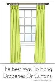 best way to hang curtains pictures of different ways to hang curtains i9life club