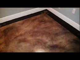 How To Finish Basement Floor - painted basement floor faux finish youtube