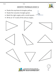 naming triangles worksheet second grade geometry