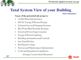 Trane Comfort Solutions Worldwide Applied Systems Group 1 Comprehensive Comfort Solutions