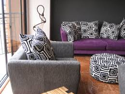 grey and purple living room design home design ideas