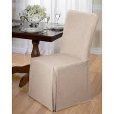 Plush Dining Room Chairs Sure Fit Stretch Plush Short Dining Room Chair Slipcover Brown