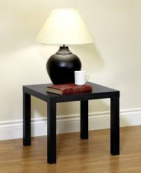 amazon com dhp parsons modern end table black wood grain