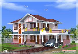 bedroom sloped roof house design kerala home floor plans house
