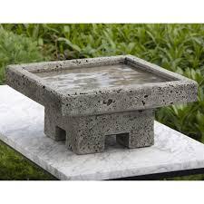 campania international kosei cast stone bird bath hayneedle