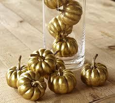 Fruit Vase Filler Gold Pumpkin Vase Filler Pottery Barn