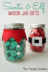 santa u0026 elf christmas mason jar gifts diy christmas mason jars