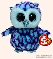 amazon ty beanie boos cute oscar blue u0026 purple owl