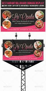 restaurant billboard ad signage psd templates psd templates